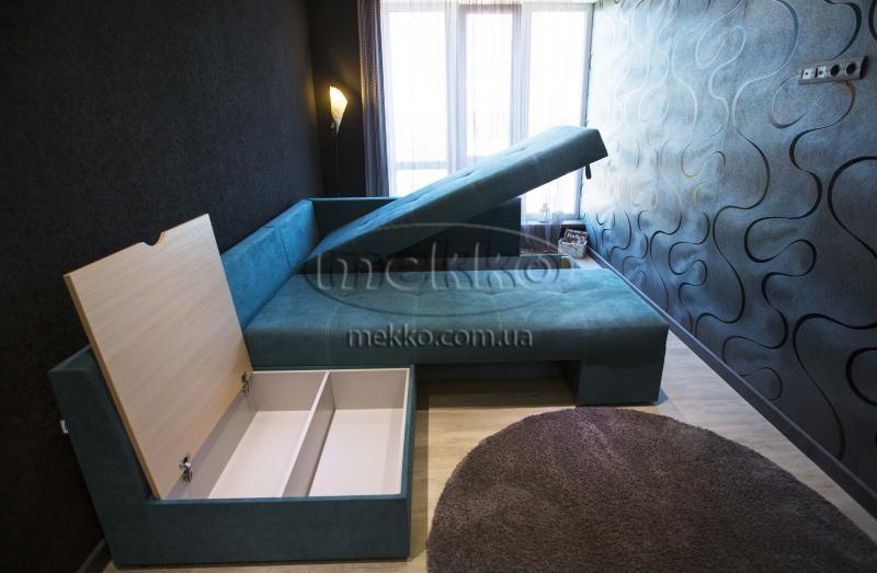 Кутовий диван з поворотним механізмом (Mercury) Меркурій ф-ка Мекко (Ортопедичний) - 3000*2150мм  Городище-7